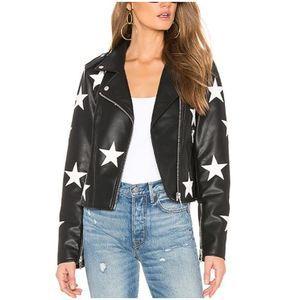 NWT BLANK NYC Star Vegan Leather Moto Jacket XS